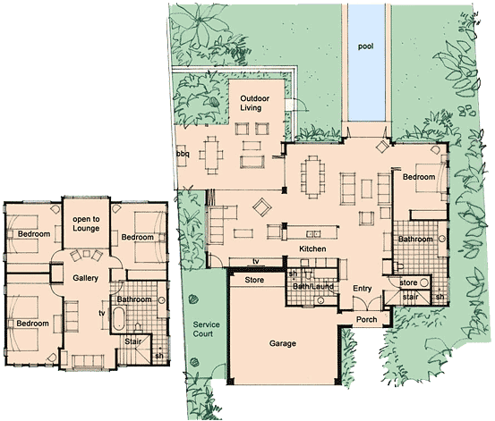 Home for Vacation house floor plan